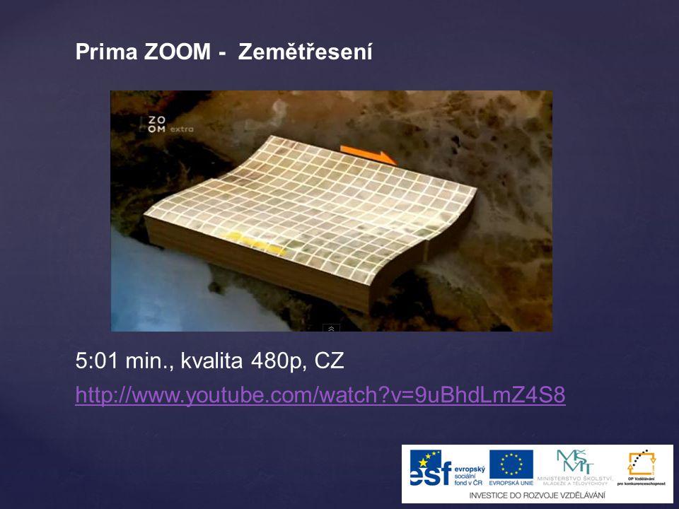 Prima ZOOM - Zemětřesení