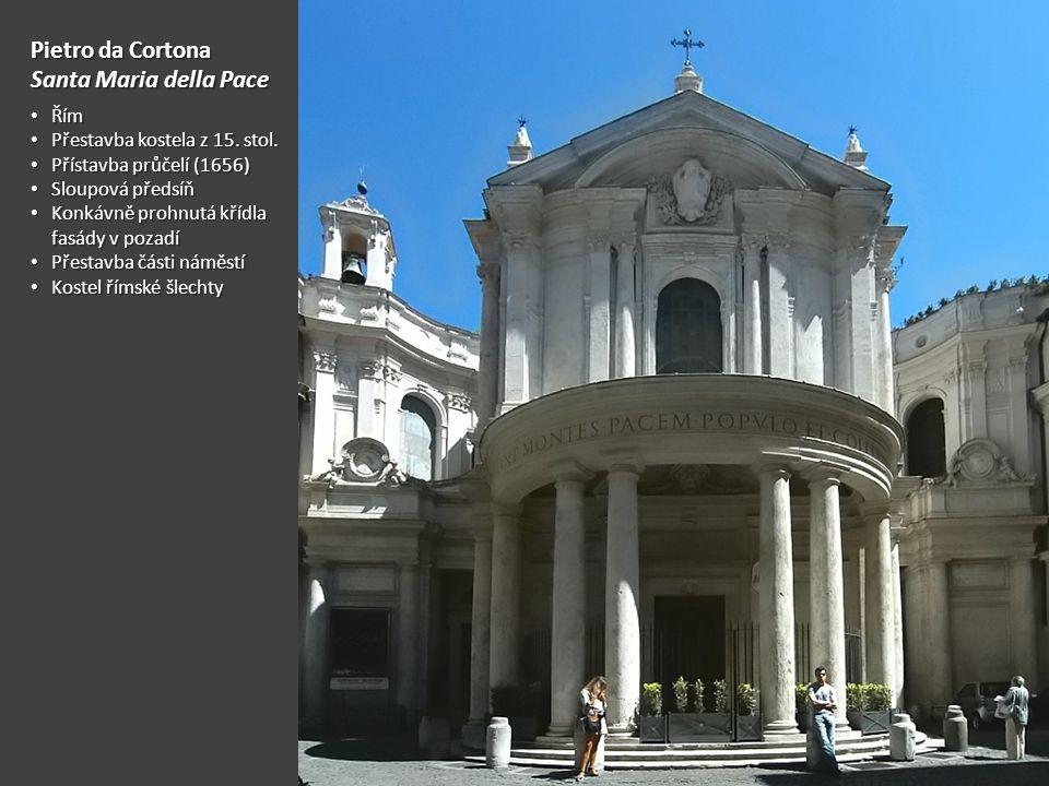 Pietro da Cortona Santa Maria della Pace Řím