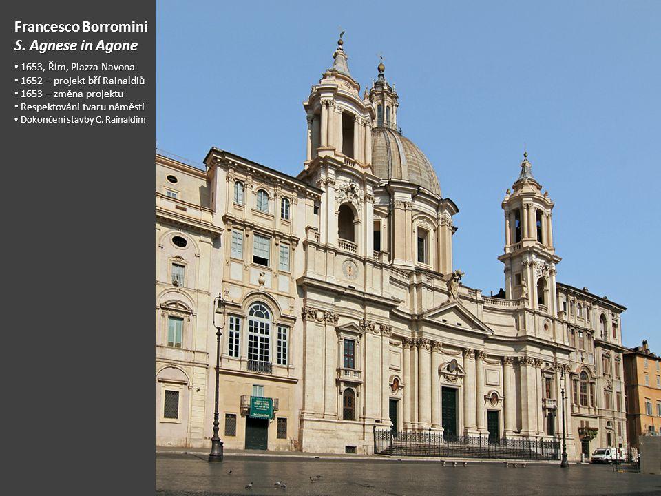 Francesco Borromini S. Agnese in Agone 1653, Řím, Piazza Navona