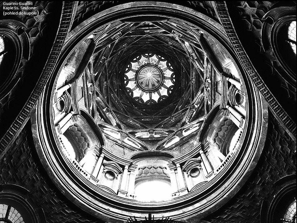 Guarino Guarini Kaple Ss. Sindone (pohled do kupole)