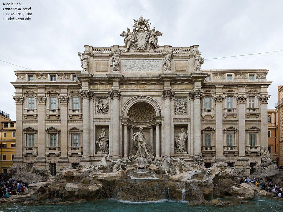 Nicola Salvi Fantána di Trevi 1732-1762, Řím Celoživotní dílo