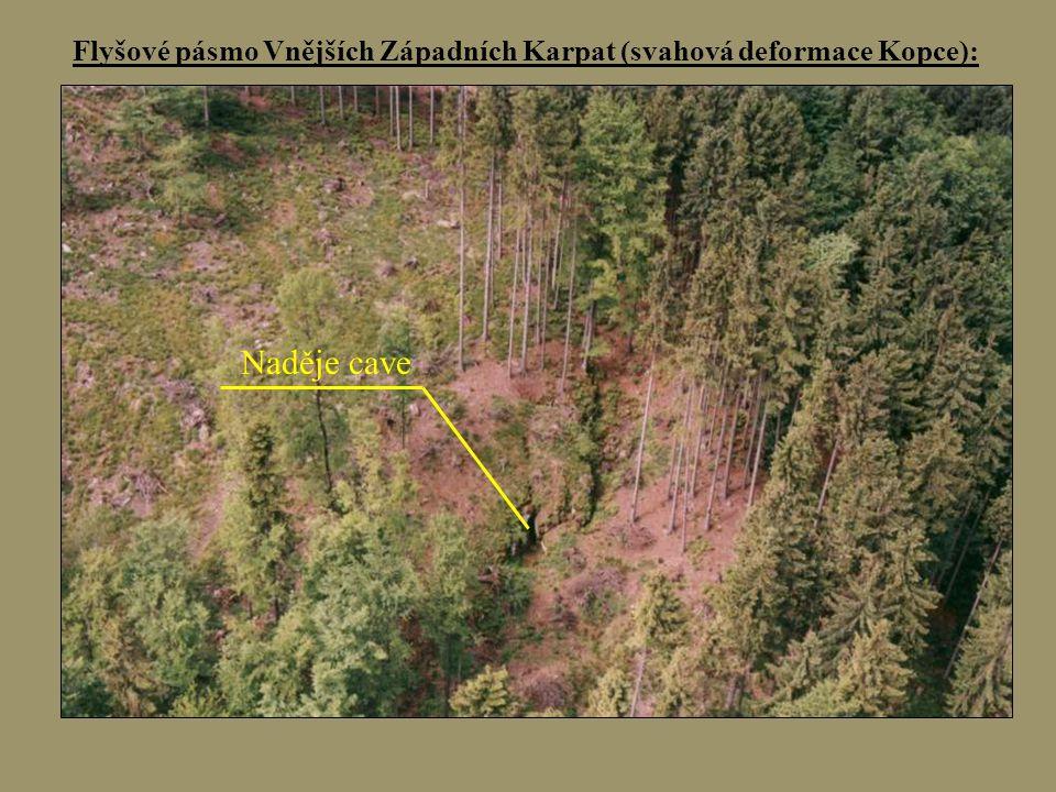 Flyšové pásmo Vnějších Západních Karpat (svahová deformace Kopce):