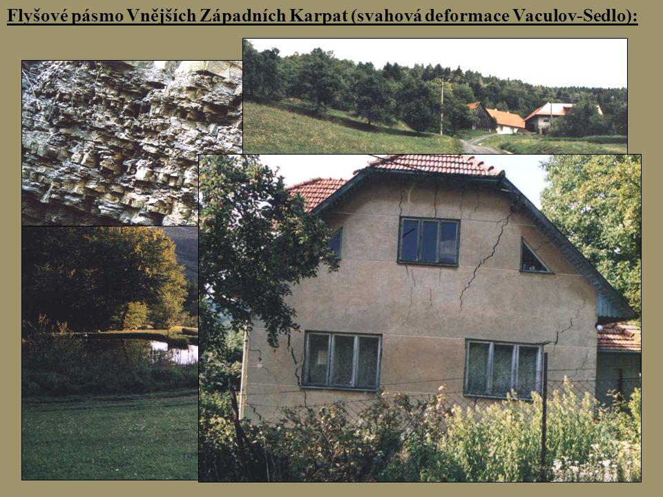 Flyšové pásmo Vnějších Západních Karpat (svahová deformace Vaculov-Sedlo):