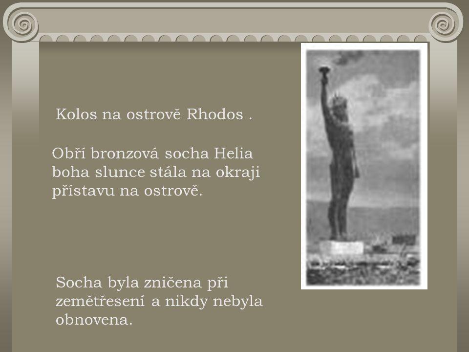 Kolos na ostrově Rhodos .