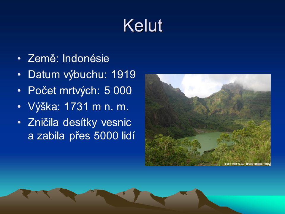 Kelut Země: Indonésie Datum výbuchu: 1919 Počet mrtvých: 5 000