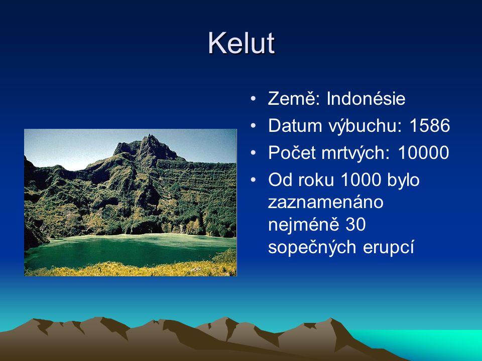 Kelut Země: Indonésie Datum výbuchu: 1586 Počet mrtvých: 10000
