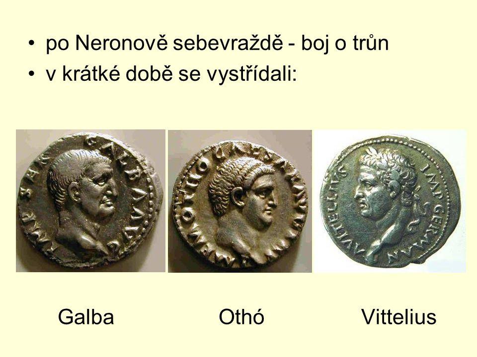 po Neronově sebevraždě - boj o trůn