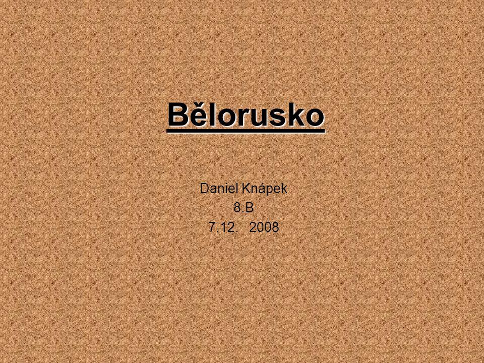 Bělorusko Daniel Knápek 8.B 7.12. 2008