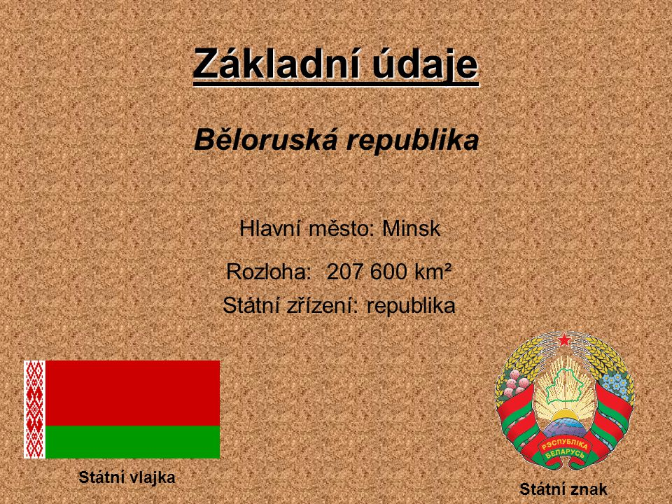 Státní zřízení: republika