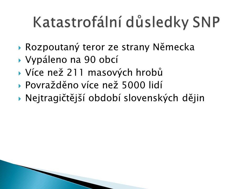Katastrofální důsledky SNP