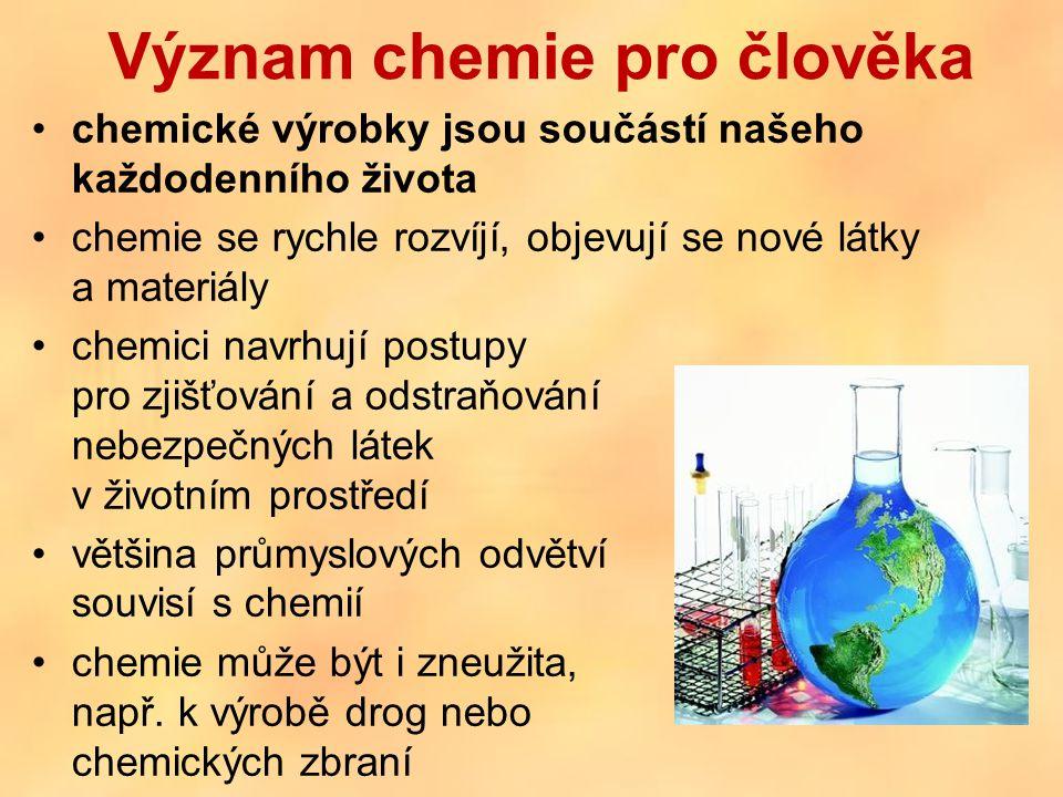 Význam chemie pro člověka
