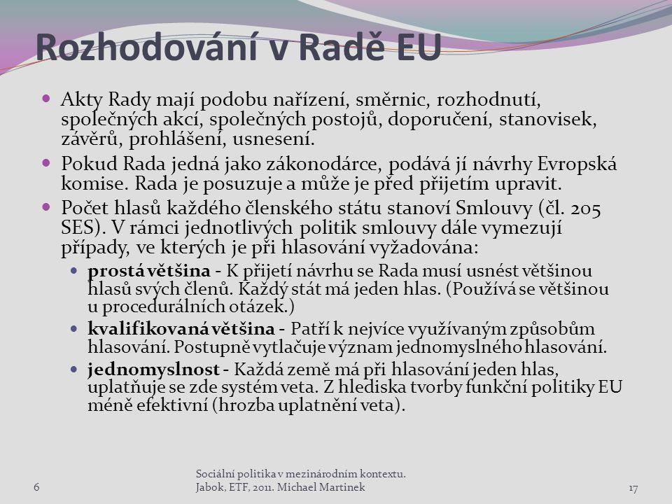 Rozhodování v Radě EU