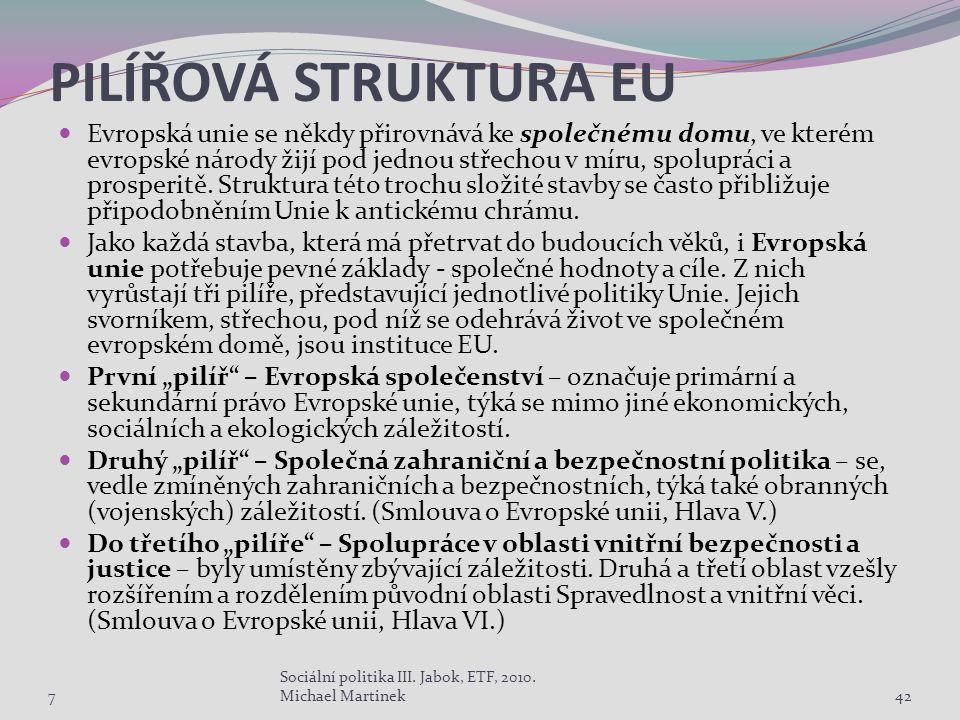 PILÍŘOVÁ STRUKTURA EU