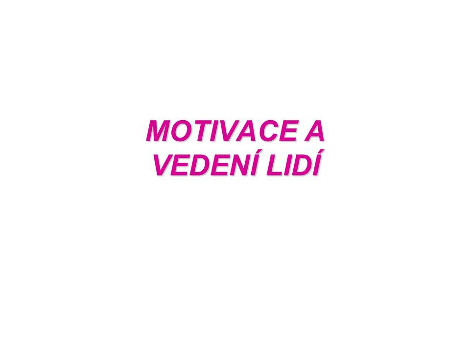 MOTIVACE A VEDENÍ LIDÍ