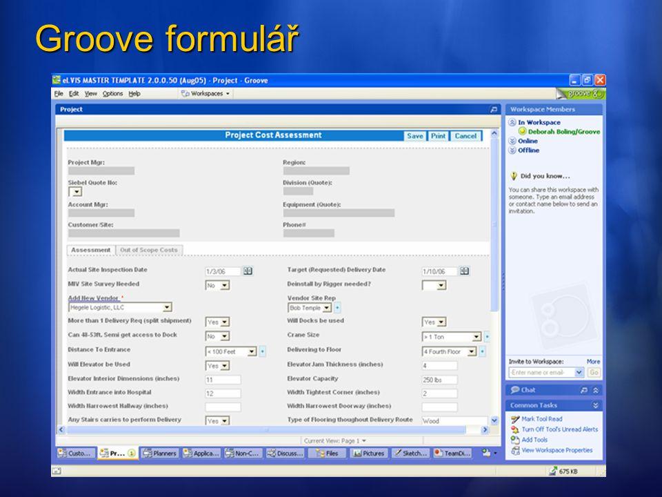 Groove formulář