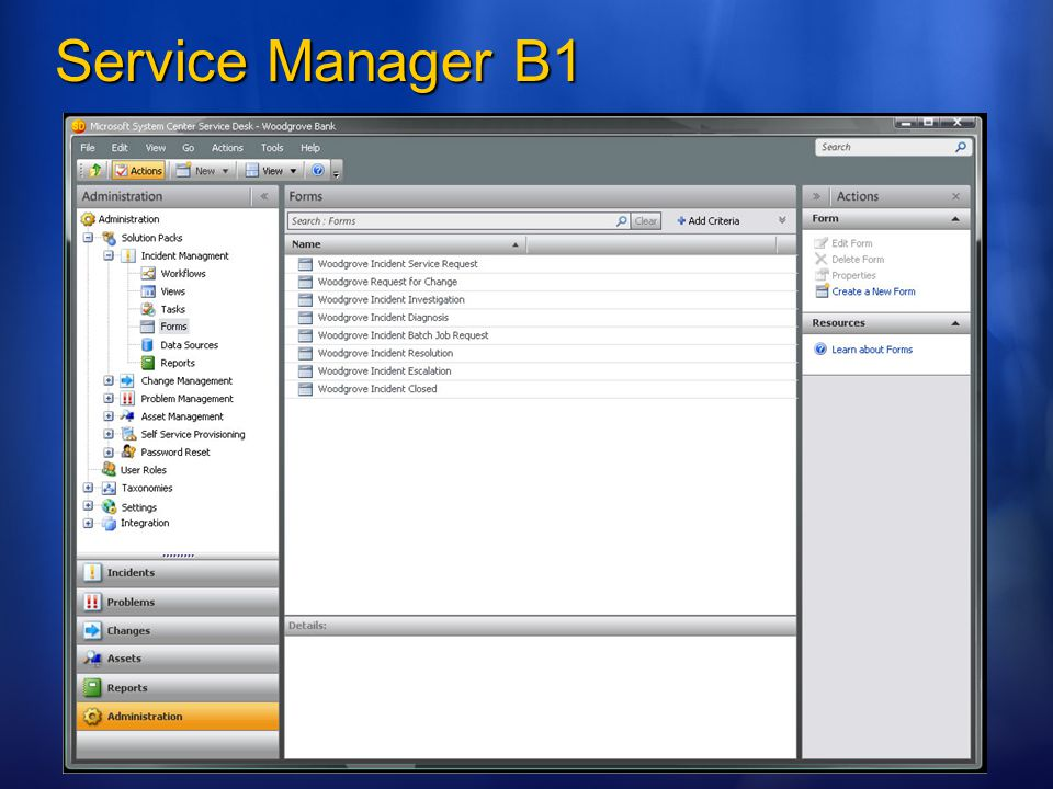 Service Manager B1