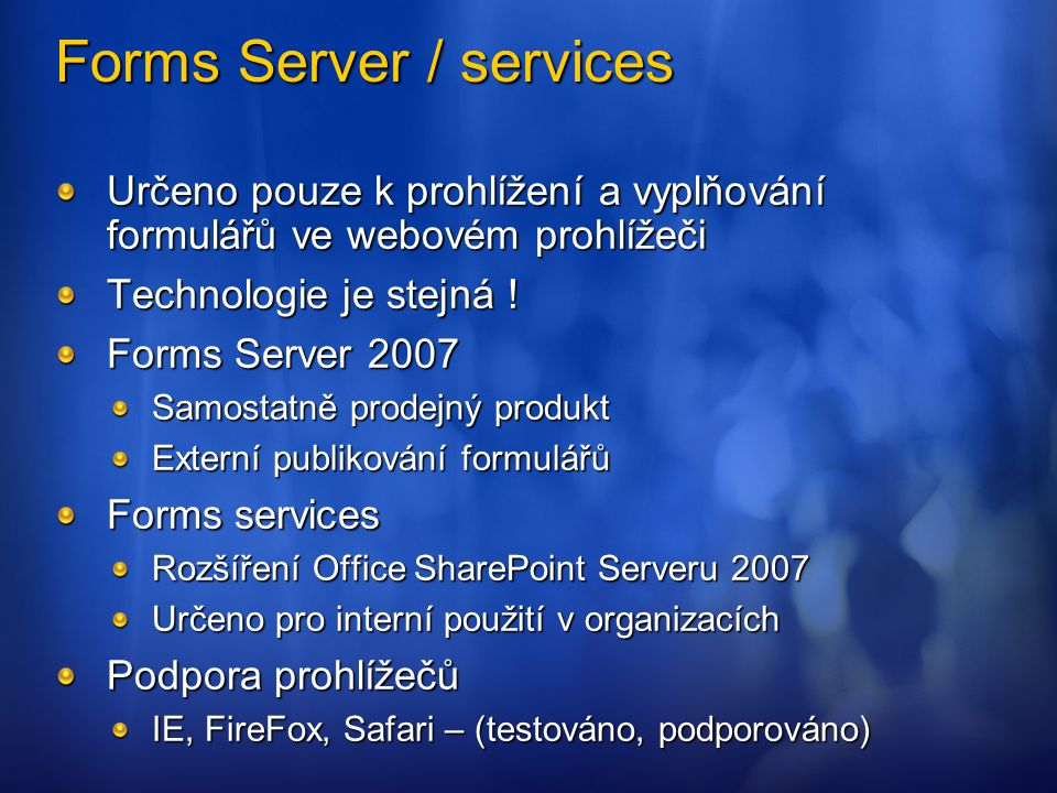 Forms Server / services