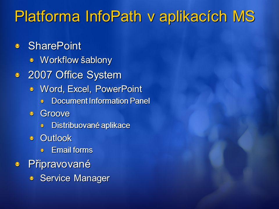 Platforma InfoPath v aplikacích MS