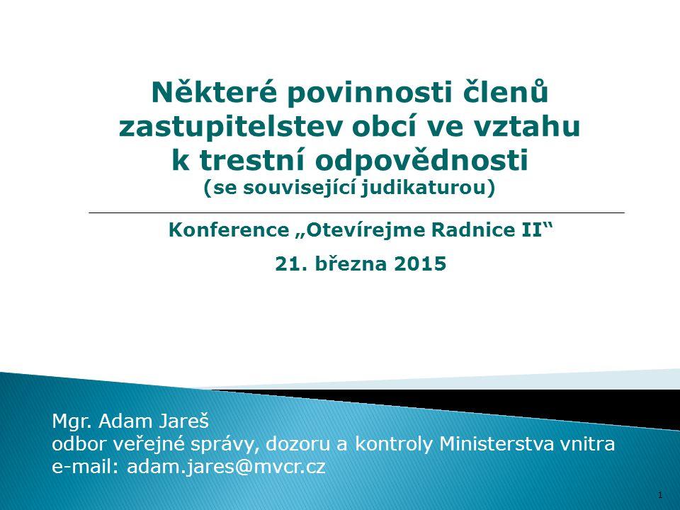 """Konference """"Otevírejme Radnice II"""
