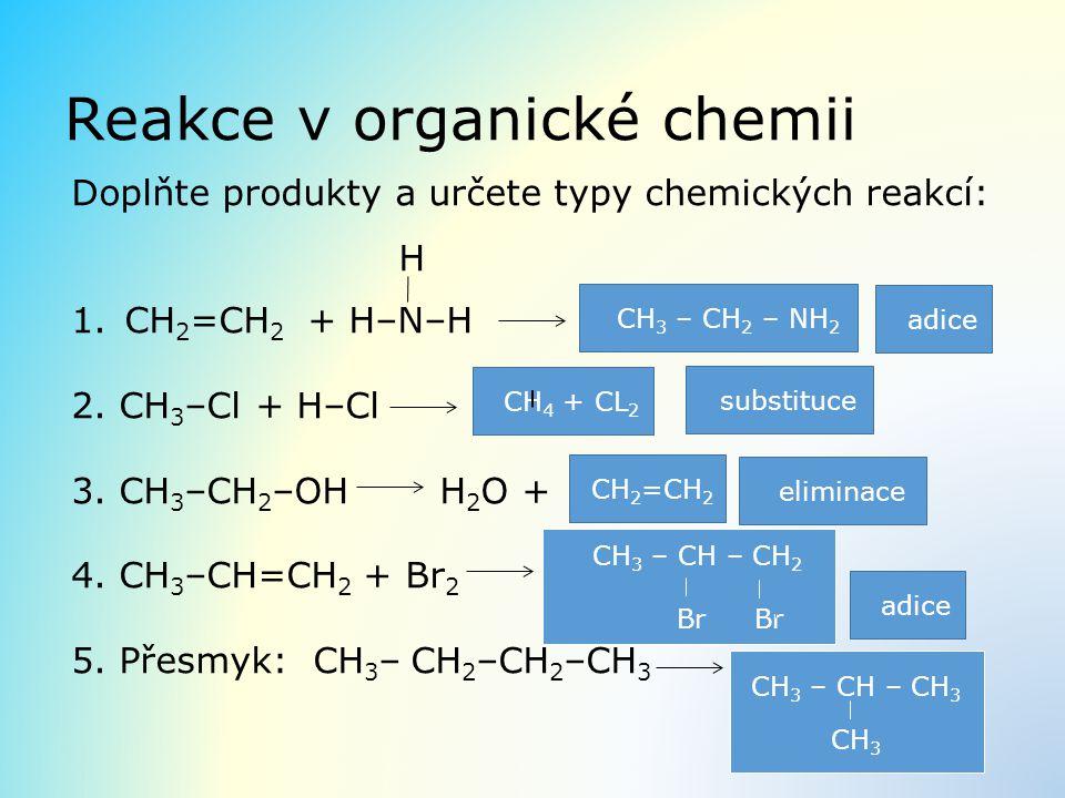 Reakce v organické chemii