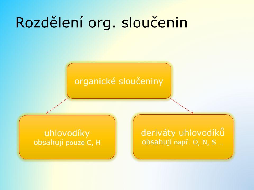 Rozdělení org. sloučenin