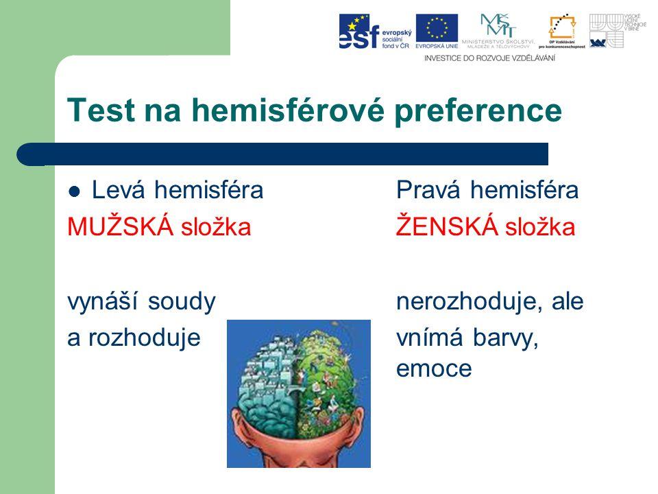 Test na hemisférové preference