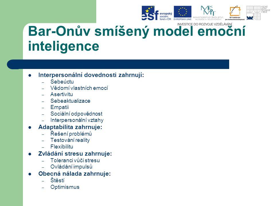 Bar-Onův smíšený model emoční inteligence