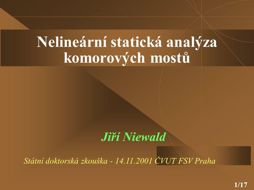 Nelineární statická analýza komorových mostů