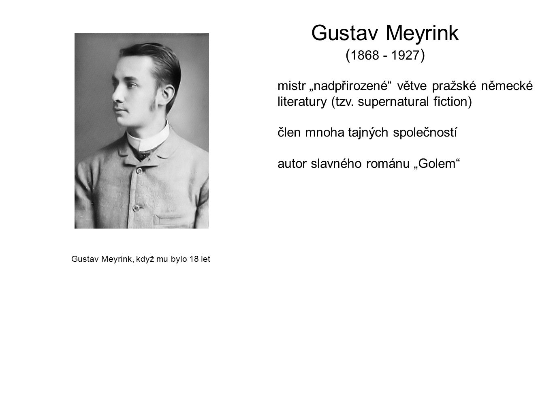 Gustav Meyrink, když mu bylo 18 let