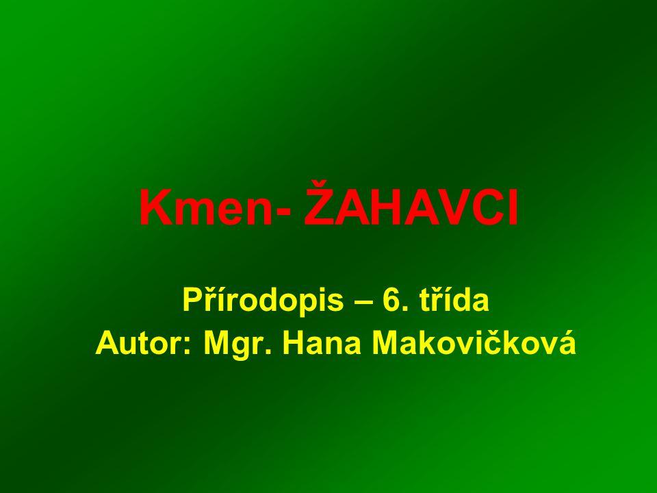 Přírodopis – 6. třída Autor: Mgr. Hana Makovičková