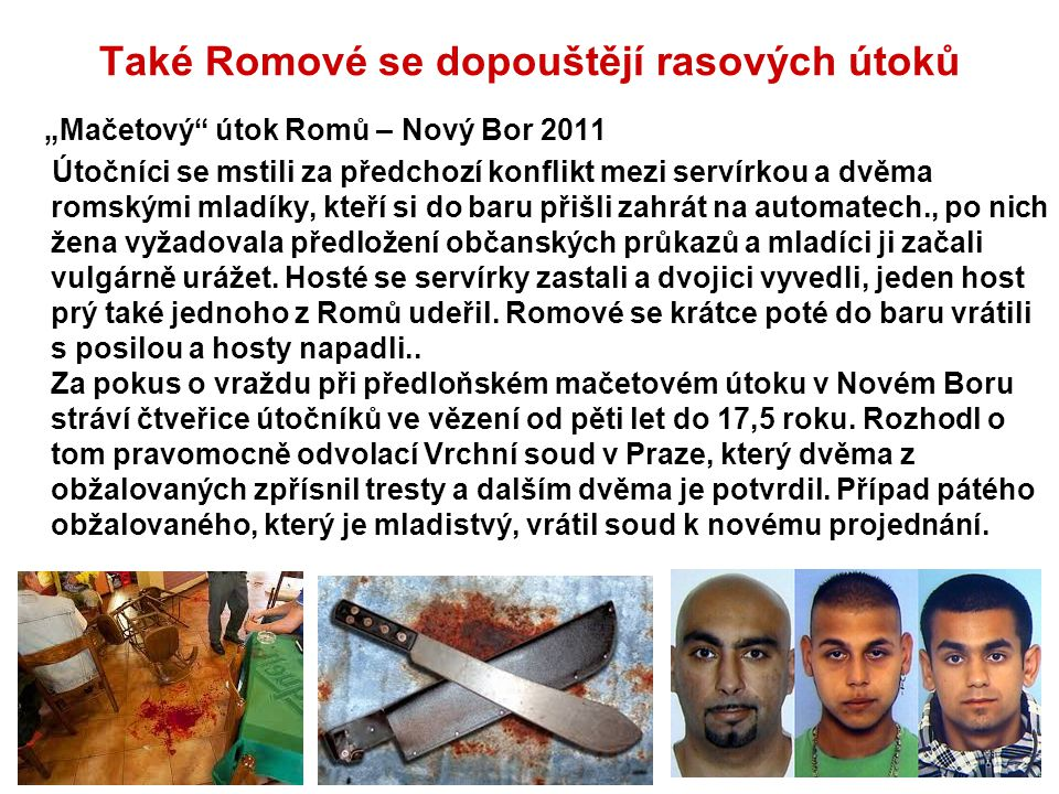 Také Romové se dopouštějí rasových útoků