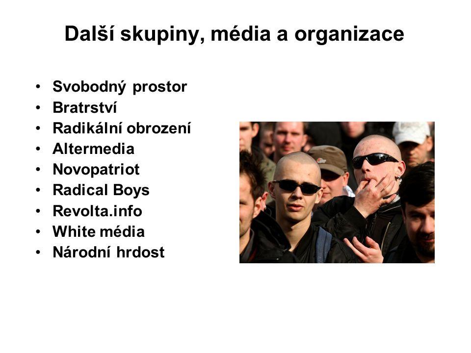 Další skupiny, média a organizace