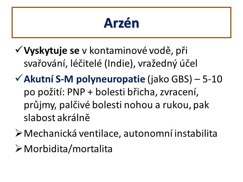 Arzén Vyskytuje se v kontaminové vodě, při svařování, léčitelé (Indie), vražedný účel.