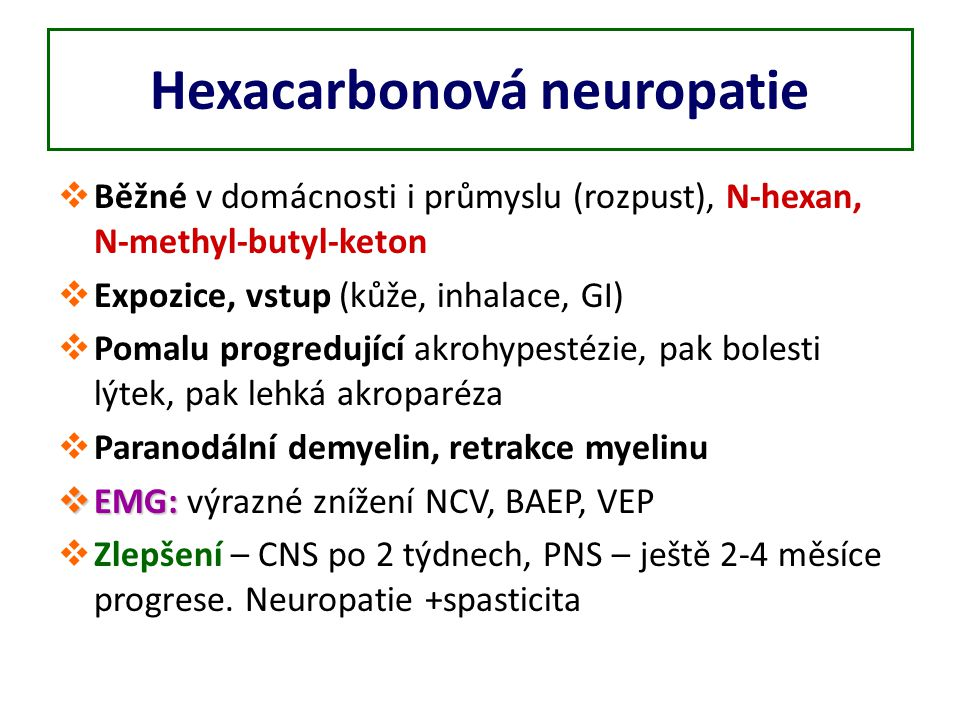 Hexacarbonová neuropatie