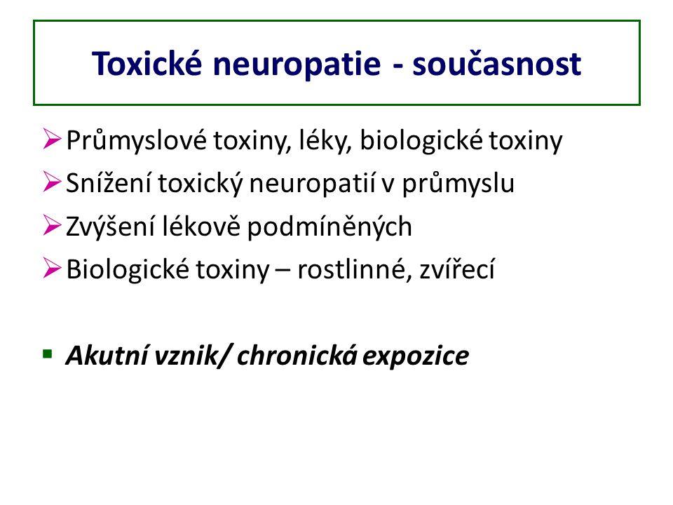 Toxické neuropatie - současnost