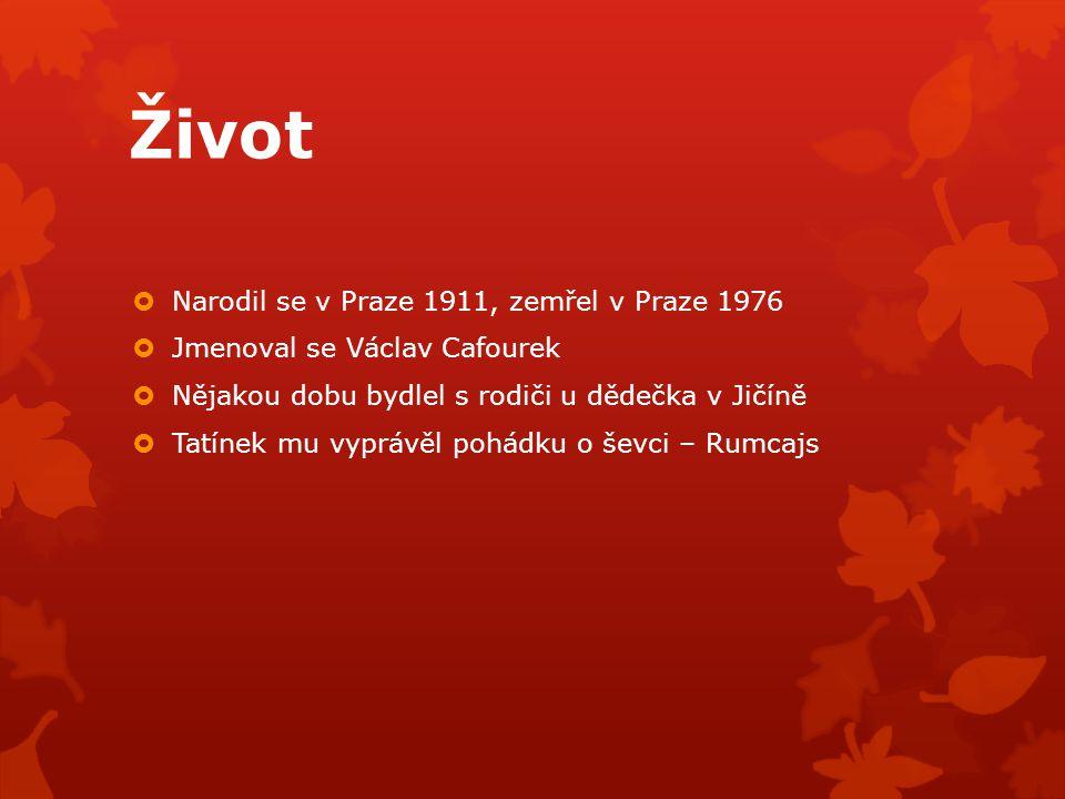 Život Narodil se v Praze 1911, zemřel v Praze 1976