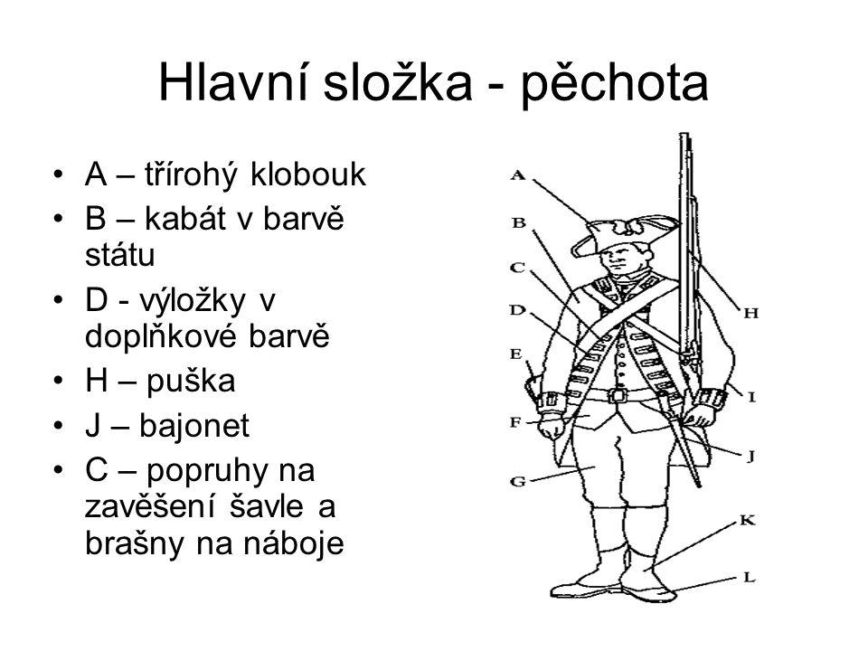 Hlavní složka - pěchota
