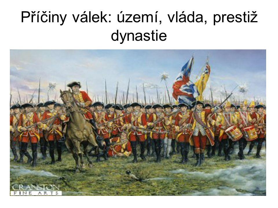 Příčiny válek: území, vláda, prestiž dynastie