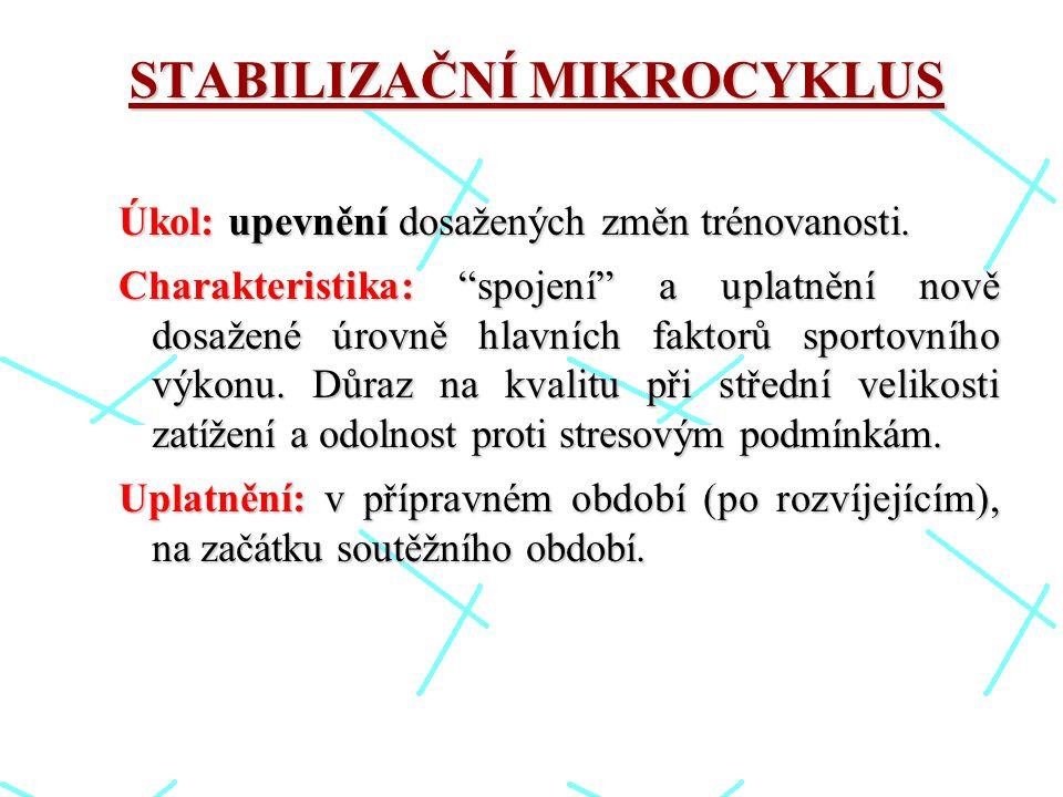 STABILIZAČNÍ MIKROCYKLUS