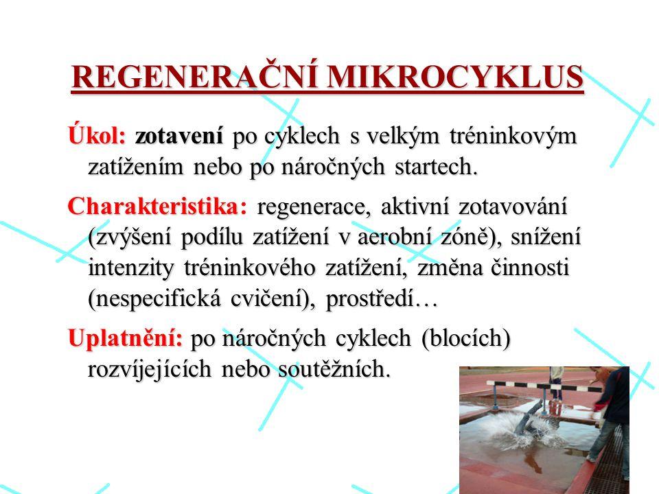 REGENERAČNÍ MIKROCYKLUS