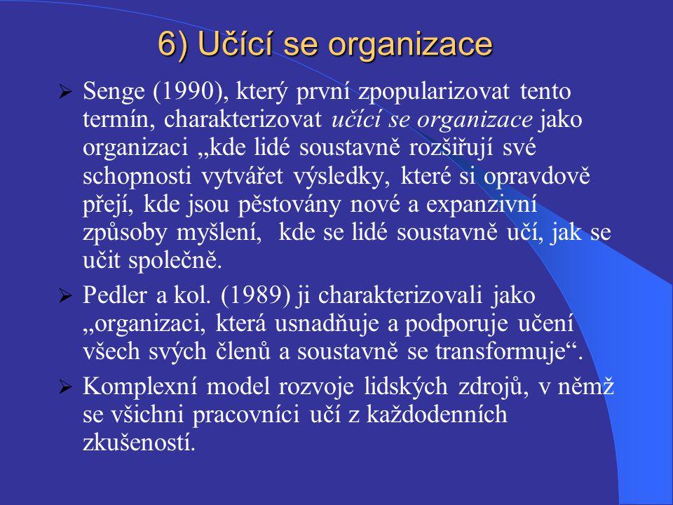 6) Učící se organizace