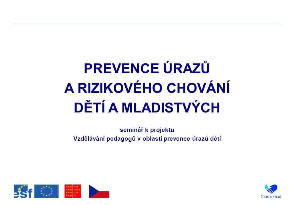 Vzdělávání pedagogů v oblasti prevence úrazů dětí