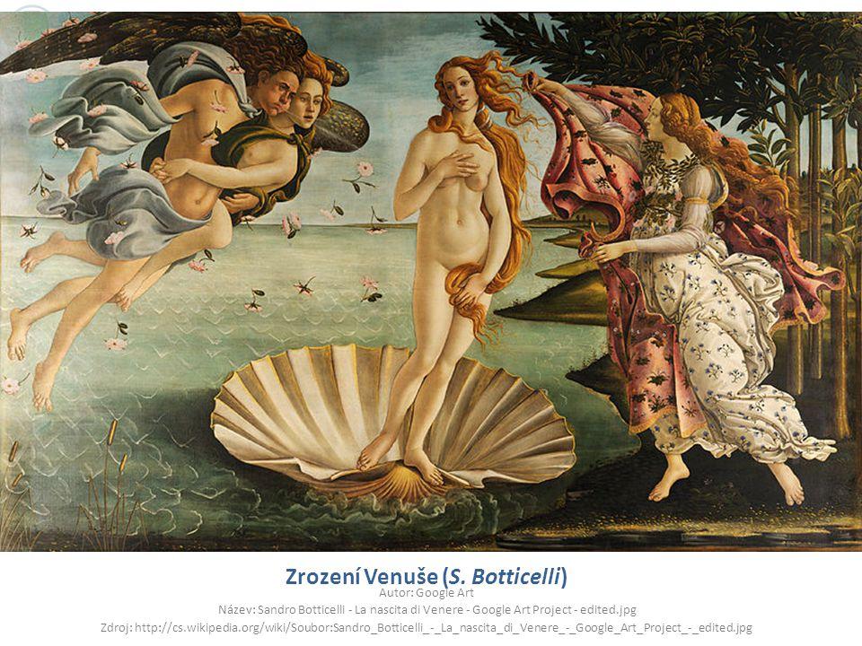 Zrození Venuše (S. Botticelli)
