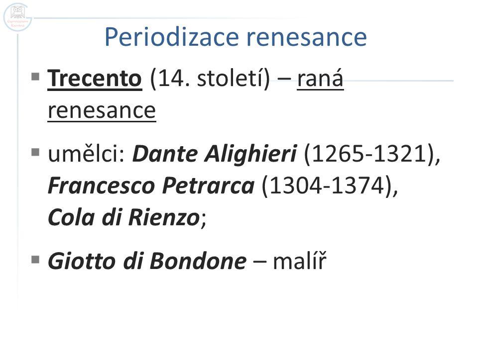 Periodizace renesance