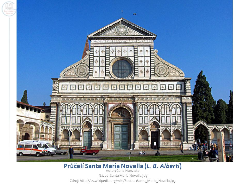 Průčelí Santa Maria Novella (L. B. Alberti)