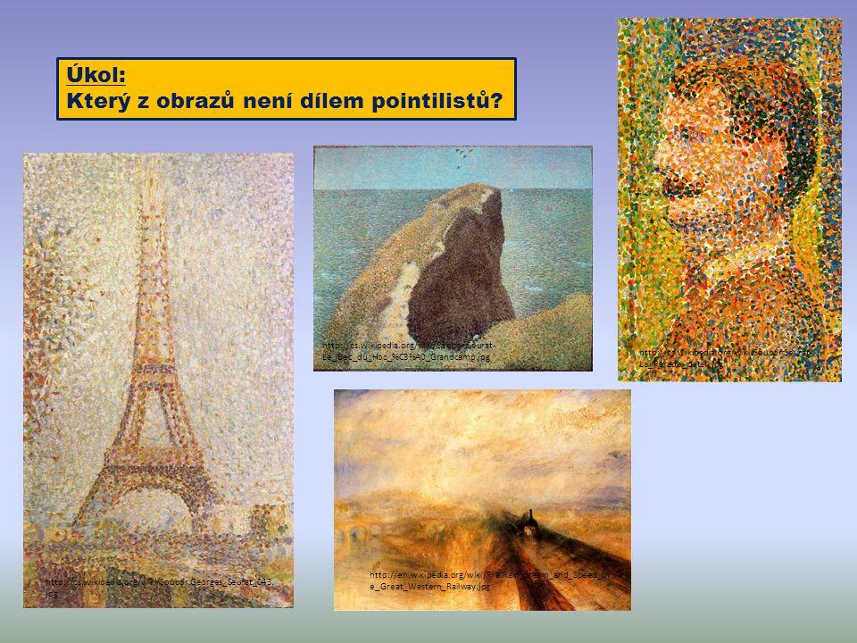 Který z obrazů není dílem pointilistů
