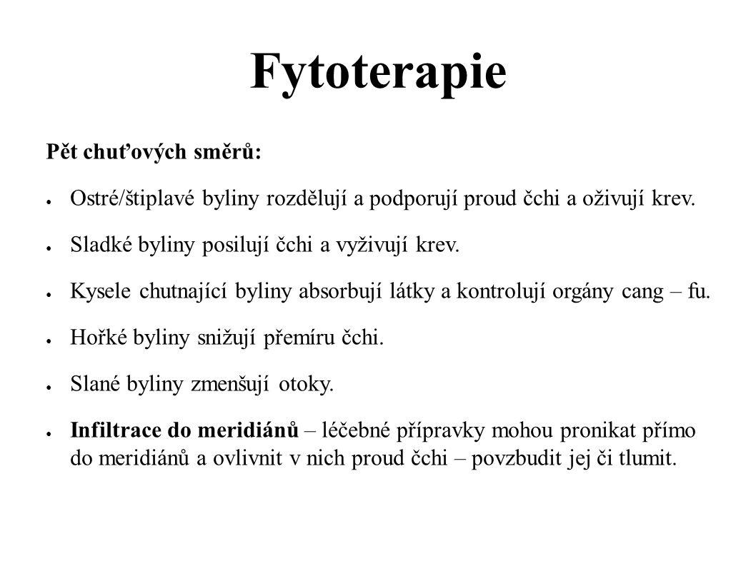 Fytoterapie Pět chuťových směrů:
