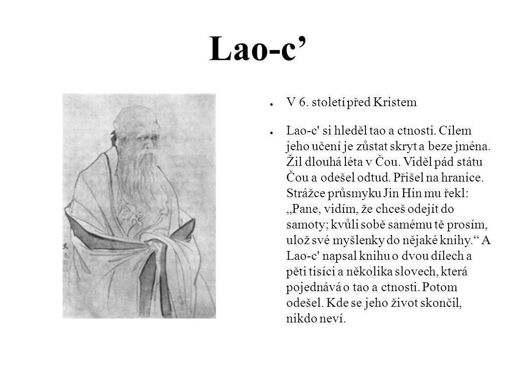 Lao-c' V 6. století před Kristem