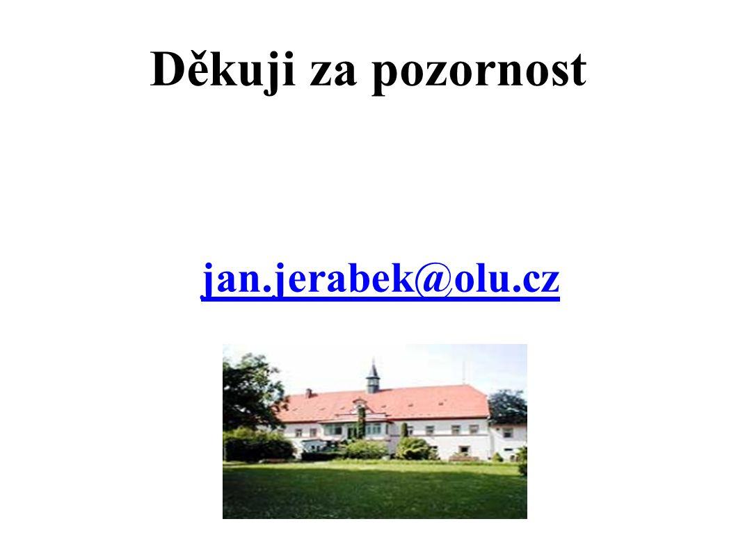 Děkuji za pozornost jan.jerabek@olu.cz