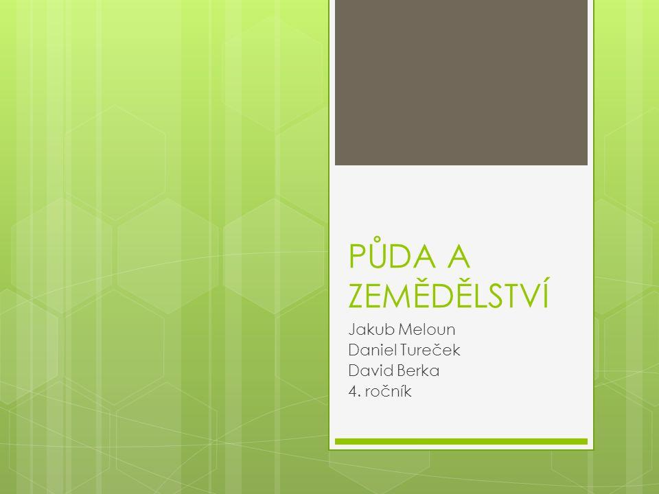 Jakub Meloun Daniel Tureček David Berka 4. ročník